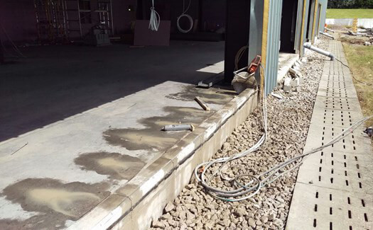 Hand-held concrete sawing