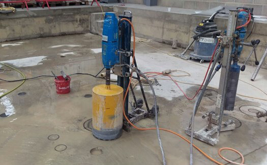Diamond floor drilling
