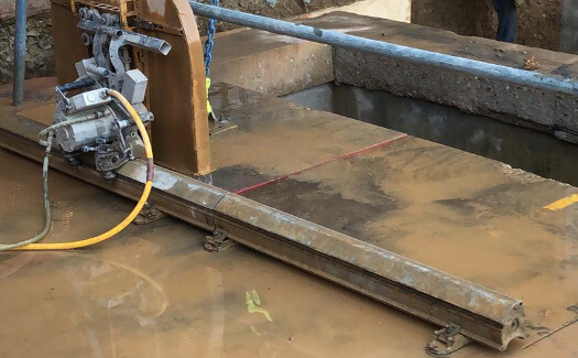 concrete track sawing